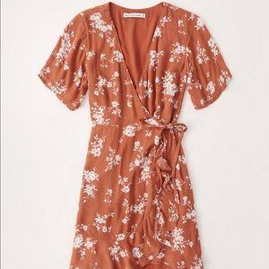 Abercrombie and Fitch Ruffle Hem Wrap dress